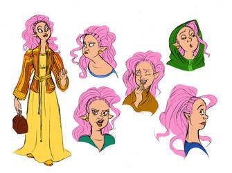 An Elf Seamstress by DrZime