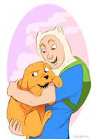 Finn Mertens and Jake the Dog by DrZime