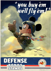 WWII Mickey Mouse Poster by DrZime