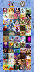 55 Classic Disney Movies Collaboration by DrZime