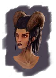 Fantasy Portrait practice by ross-senpai
