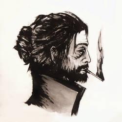 Brush Pen Sketch by ross-senpai