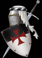 Templar shield and helm by dashinvaine