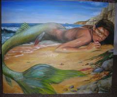 beached mermaid wip 6 by dashinvaine