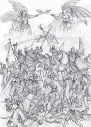 Crusader Battle by dashinvaine