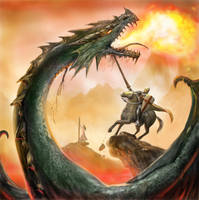 Saint George and the Dragon by dashinvaine