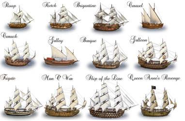 Sailing Ships by dashinvaine