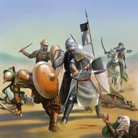 Templar fight by dashinvaine