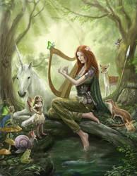 Lynn d'Vadalis in the fairy wood. by dashinvaine