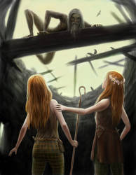 Druid on the Rafters by dashinvaine