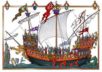 Heraldic Ship by dashinvaine