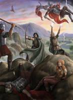 Arawn and Amaethon rescuing Cerridwen by dashinvaine