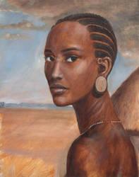 African Head by dashinvaine
