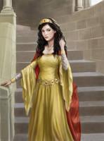Katrina in gold dress by dashinvaine