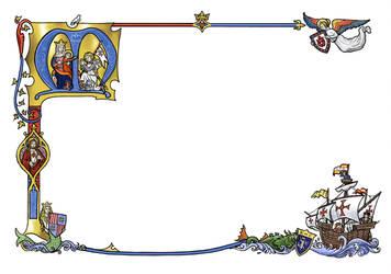 Anachronistic Medieval Border by dashinvaine
