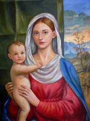 Madonna and Child by dashinvaine
