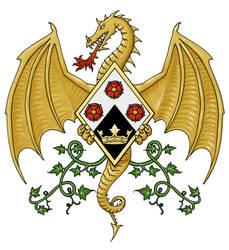 Dragon Rose Emblem by dashinvaine