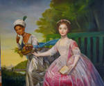 Dido Belle and Lady Eliz. Murray, after D Martin by dashinvaine