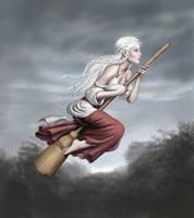 Kseniya on Broomstick by dashinvaine