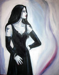 Lady in Black WIP2 by dashinvaine