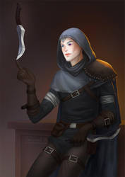 Commission: DnD rogue by TerinCat