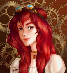 Comm: Steampunk portrait by TerinCat