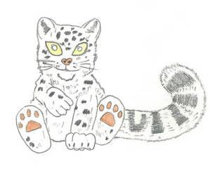 Snow Leopard Anime by kiwicompassionate