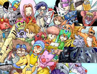 Digimon Adventure by Tzoli