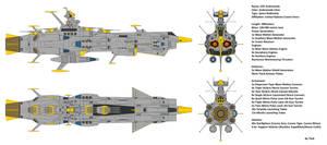 Space Battleship EDF Andromeda by Tzoli