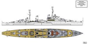 Design K-25F Light Cruiser by Tzoli