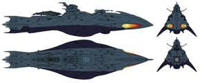 Deritera-class Astro Stealth Destroyer by Tzoli