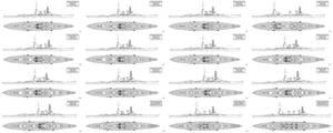 IJN ABC Capital Ship Designs by Tzoli