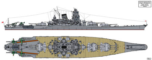 A-150 Super Yamato class possible variant F by Tzoli