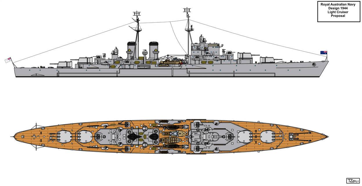 Royal Australian Navy 1944 Design Light Cruiser by Tzoli