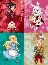 Alice in Wonderland Cards by Sadyna