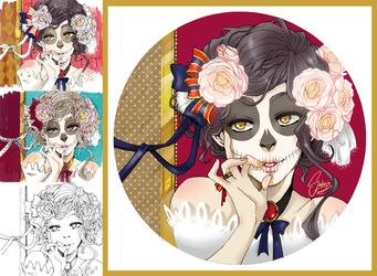 Skull Girl by Sadyna
