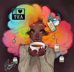 I Love Tea by Sadyna