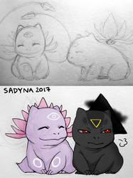 psysaur and darksaur by Sadyna