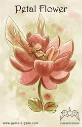 Goblins Drool, Fairies Rule! - Petal Flower by gameogami