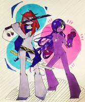 [Art Trade] Girl power!!!  by Enji369