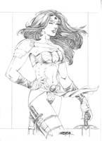 Wonder Woman-Alternate version by JeanSinclairArts