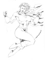Powergirl by JeanSinclairArts