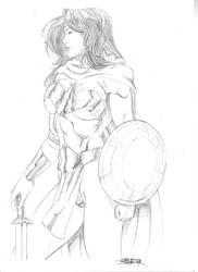 Serene Wonder Woman by JeanSinclairArts