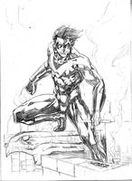 Sketch Nightwing by JeanSinclairArts
