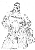 Sketch Commish: Mecha Maiden by JeanSinclairArts