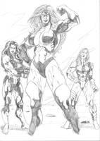 Lady Dominators by JeanSinclairArts
