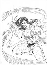 Laura Matsuda Street Fighter V by JeanSinclairArts