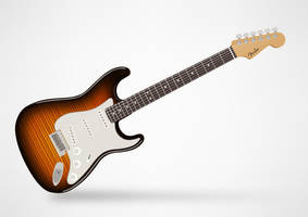 Fender stratocaster by superawesomevectors