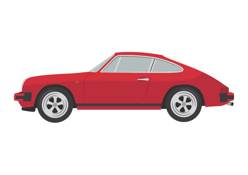 Red-porsche-911sc-vector-car-illustration by superawesomevectors