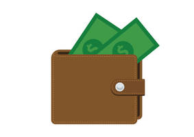 Flat-leather-wallet-free-vector-icon by superawesomevectors